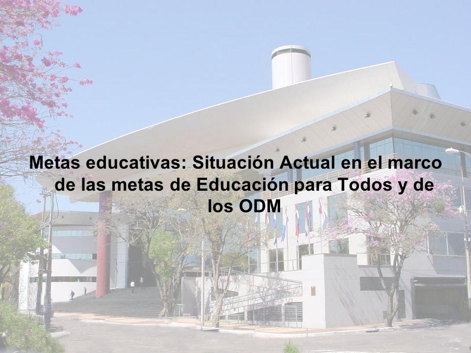 Metas educativas: Situación Actual en el marco de las metas de Educación para Todos y de los ODM