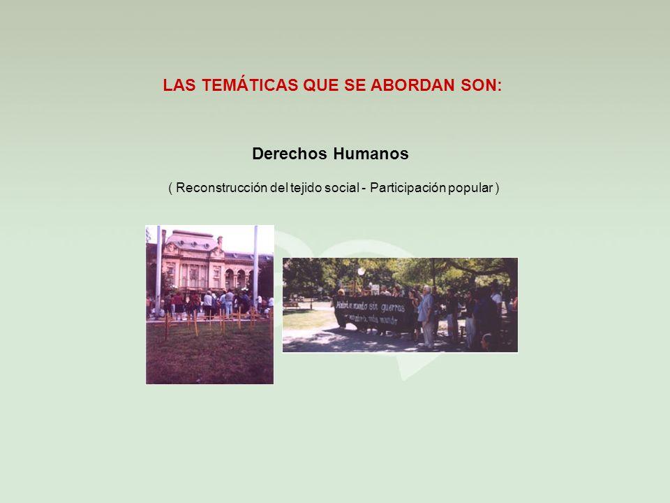 ( Reconstrucción del tejido social - Participación popular )