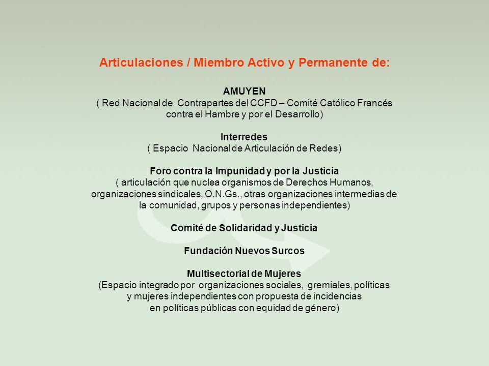 Articulaciones / Miembro Activo y Permanente de: