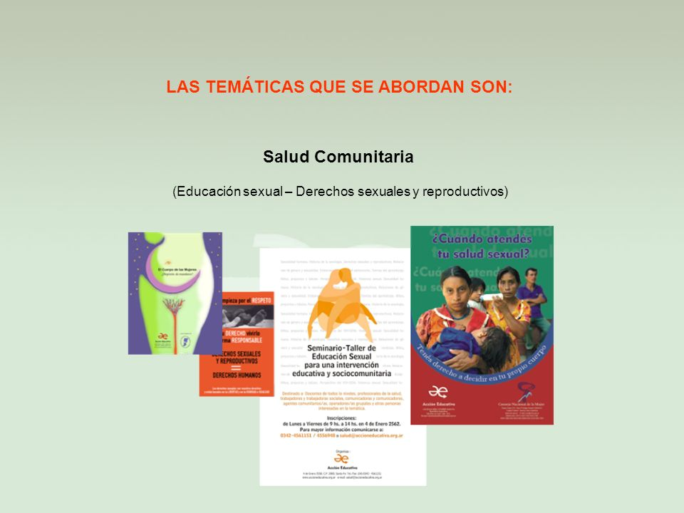 (Educación sexual – Derechos sexuales y reproductivos)