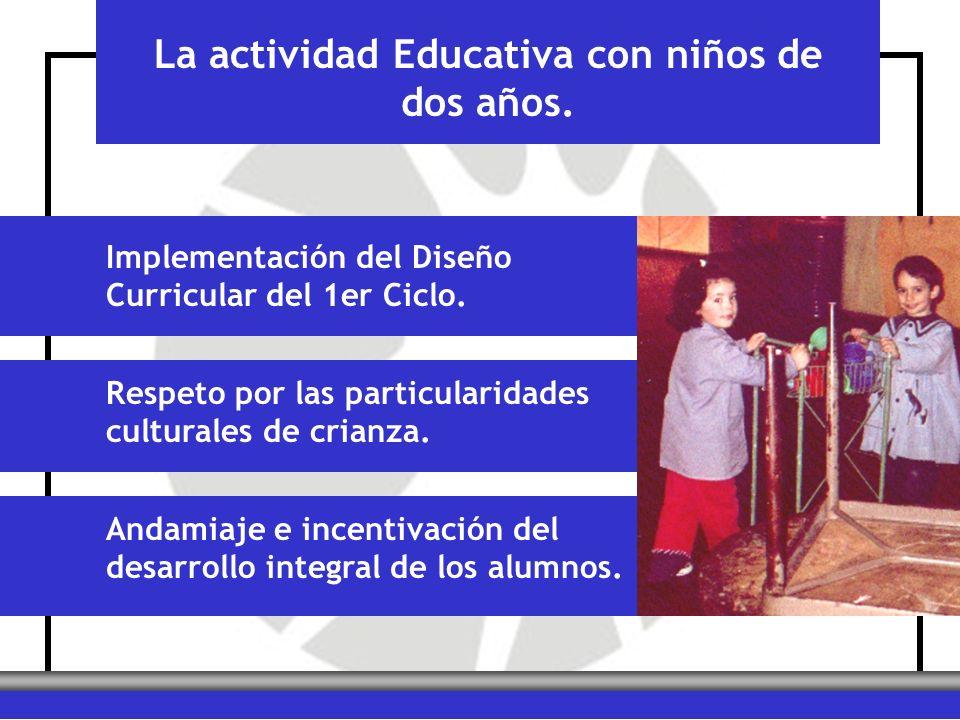 La actividad Educativa con niños de dos años.