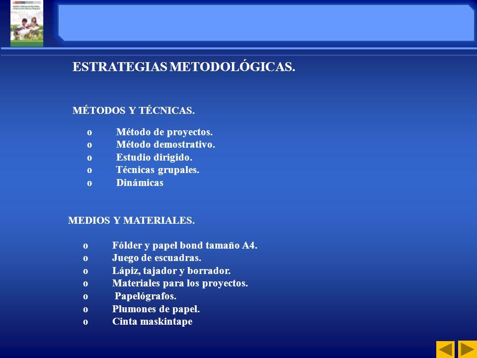 ESTRATEGIAS METODOLÓGICAS.
