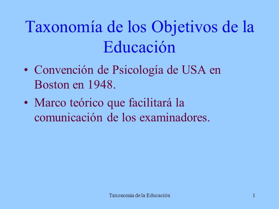 Taxonomía de los Objetivos de la Educación