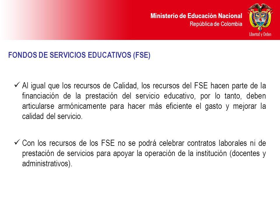 FONDOS DE SERVICIOS EDUCATIVOS (FSE)