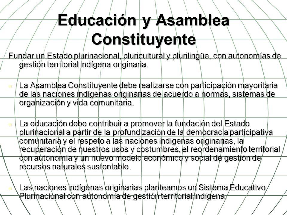 Educación y Asamblea Constituyente