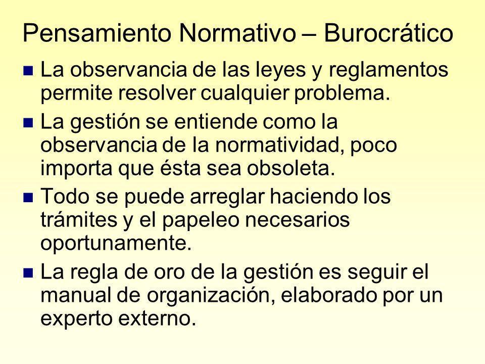 Pensamiento Normativo – Burocrático