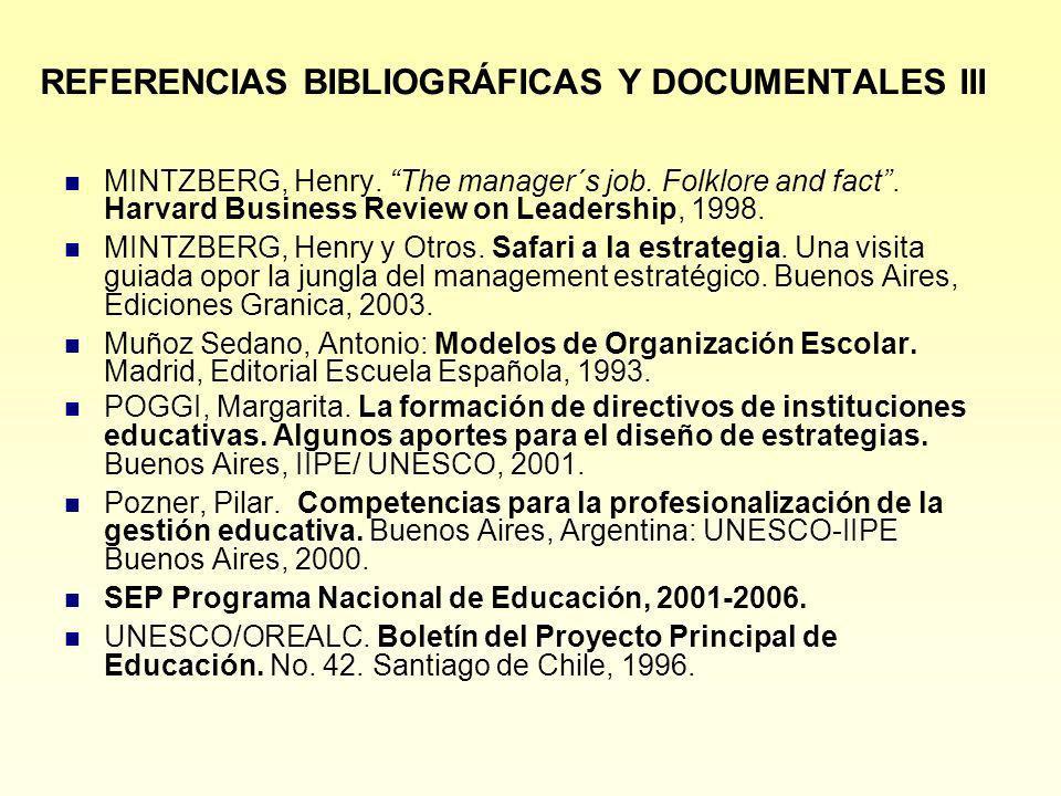 REFERENCIAS BIBLIOGRÁFICAS Y DOCUMENTALES III