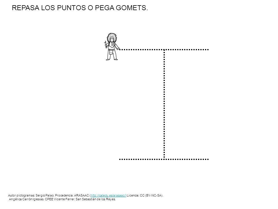 REPASA LOS PUNTOS O PEGA GOMETS.