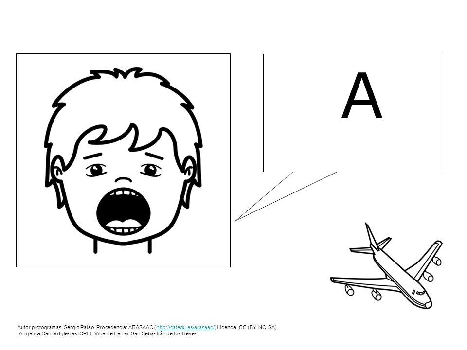 A Autor pictogramas: Sergio Palao. Procedencia: ARASAAC (http://catedu.es/arasaac/) Licencia: CC (BY-NC-SA).