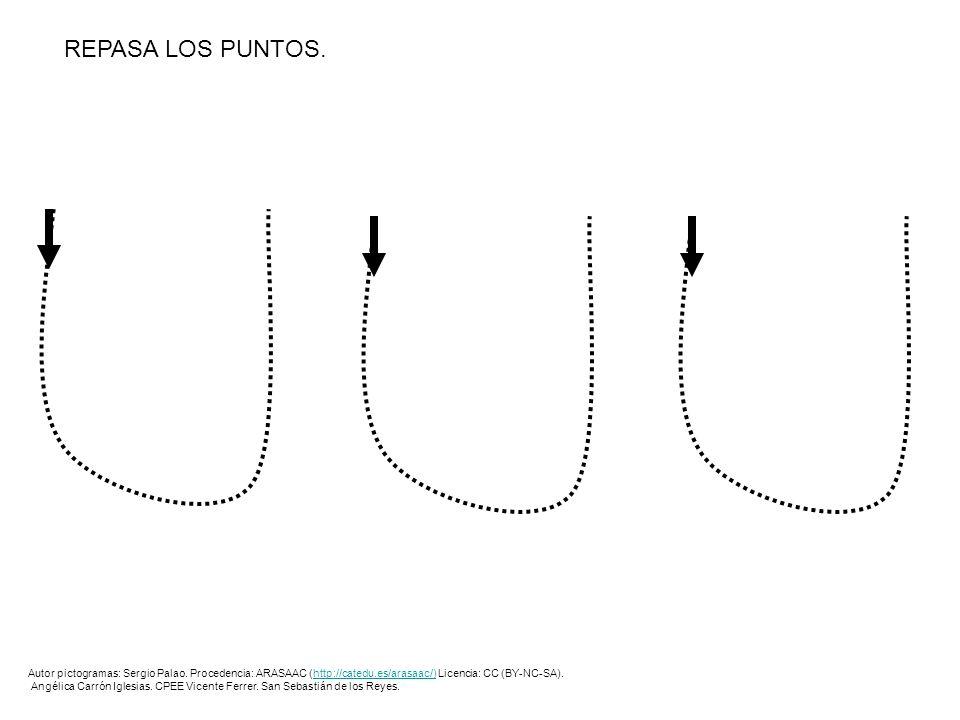 REPASA LOS PUNTOS.Autor pictogramas: Sergio Palao. Procedencia: ARASAAC (http://catedu.es/arasaac/) Licencia: CC (BY-NC-SA).