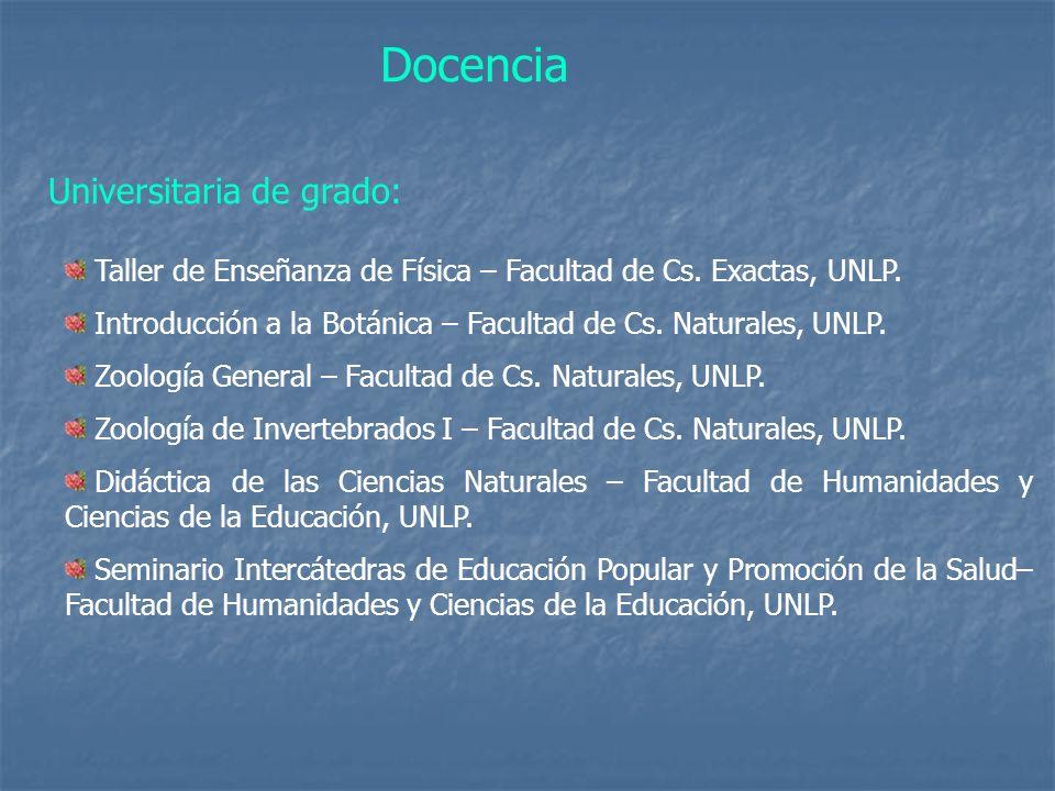 Docencia Universitaria de grado: