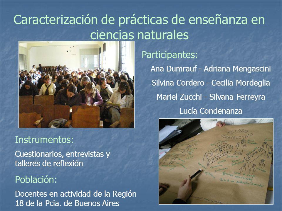 Caracterización de prácticas de enseñanza en ciencias naturales