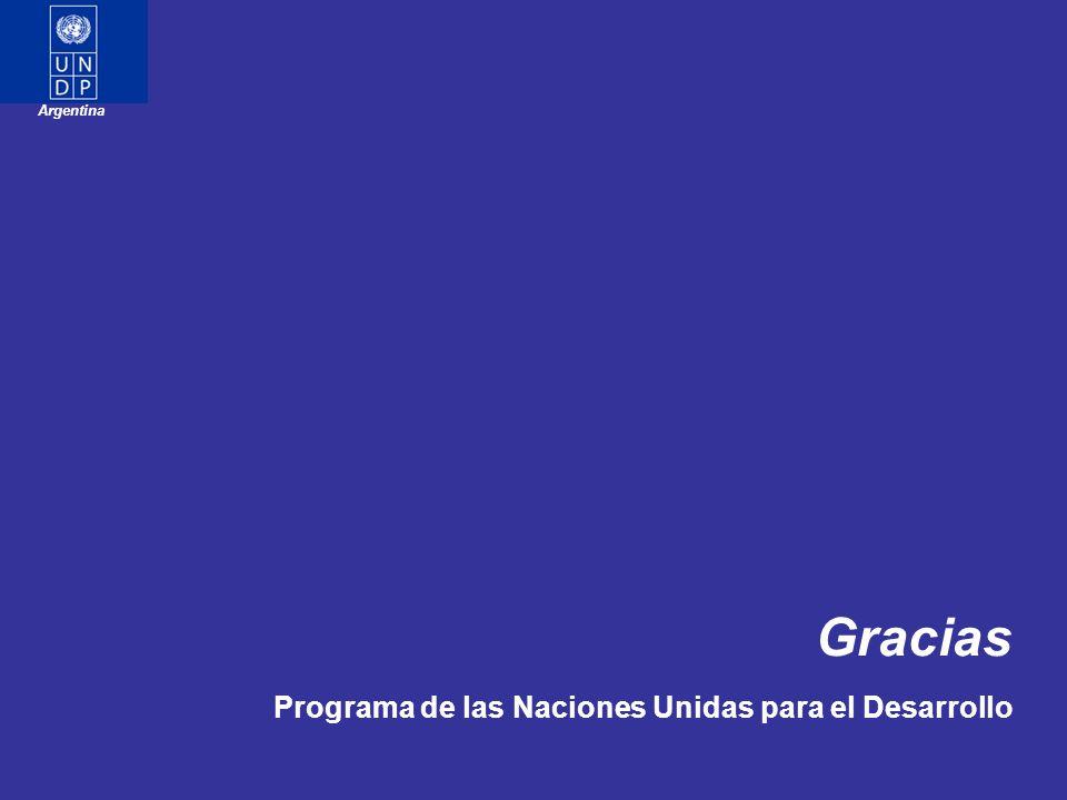 Argentina Gracias Programa de las Naciones Unidas para el Desarrollo
