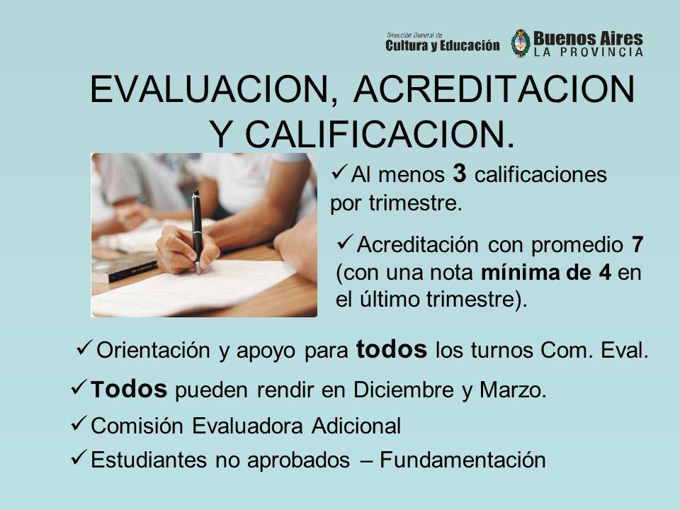 EVALUACION, ACREDITACION Y CALIFICACION.