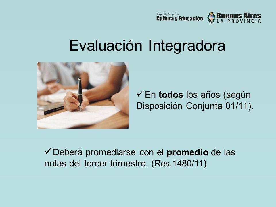 Evaluación Integradora