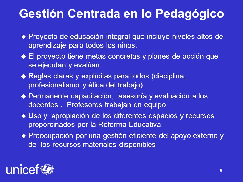 Gestión Centrada en lo Pedagógico