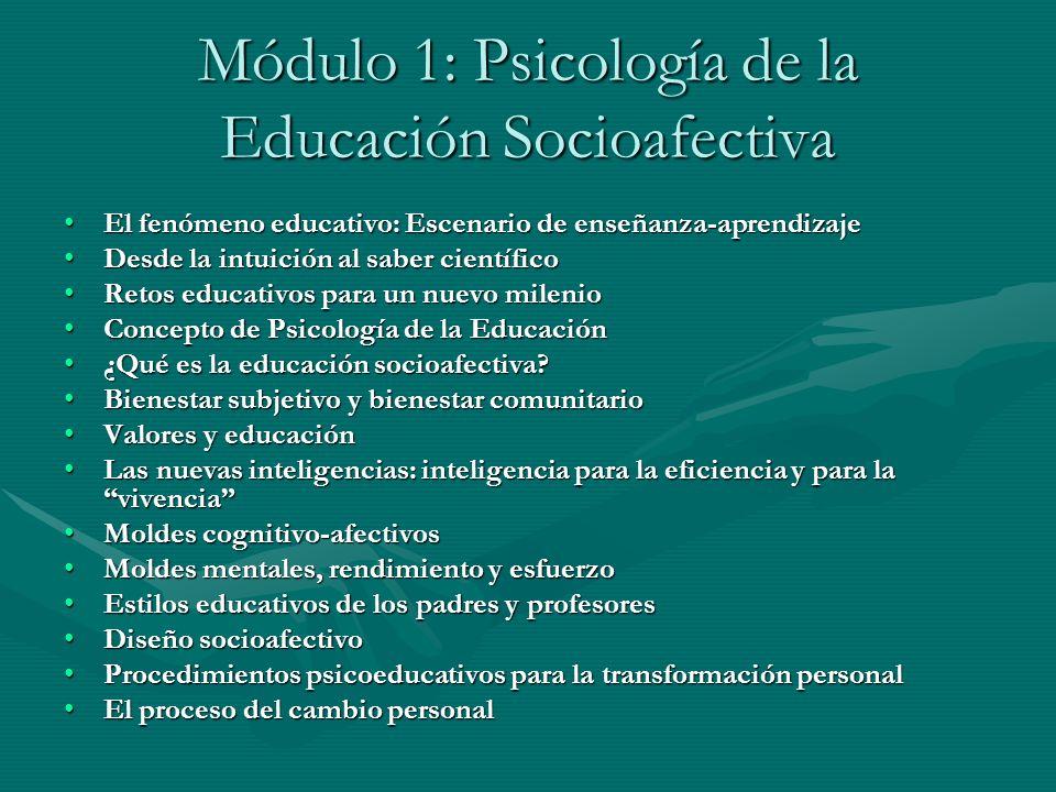 Módulo 1: Psicología de la Educación Socioafectiva