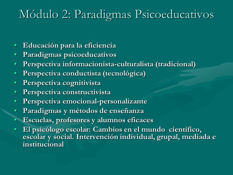 Módulo 2: Paradigmas Psicoeducativos