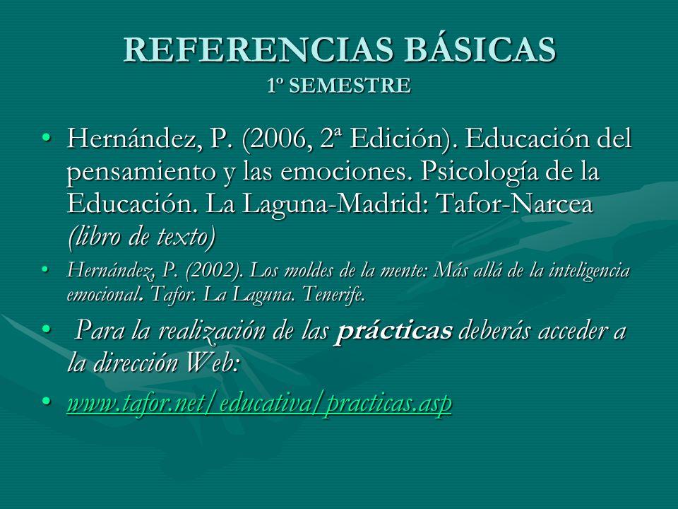 REFERENCIAS BÁSICAS 1º SEMESTRE