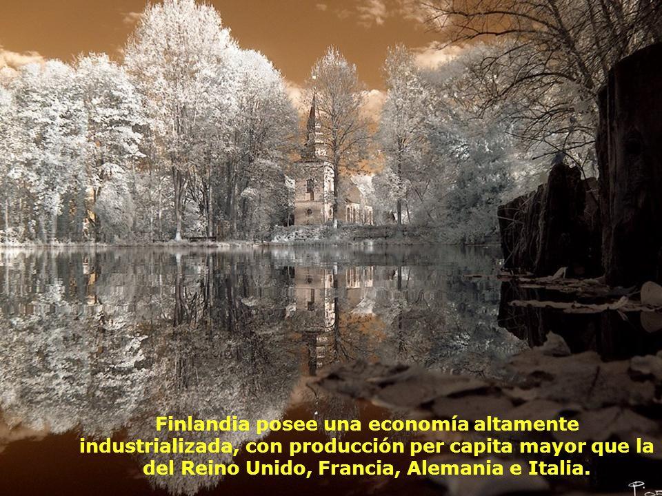 Finlandia posee una economía altamente industrializada, con producción per capita mayor que la del Reino Unido, Francia, Alemania e Italia.