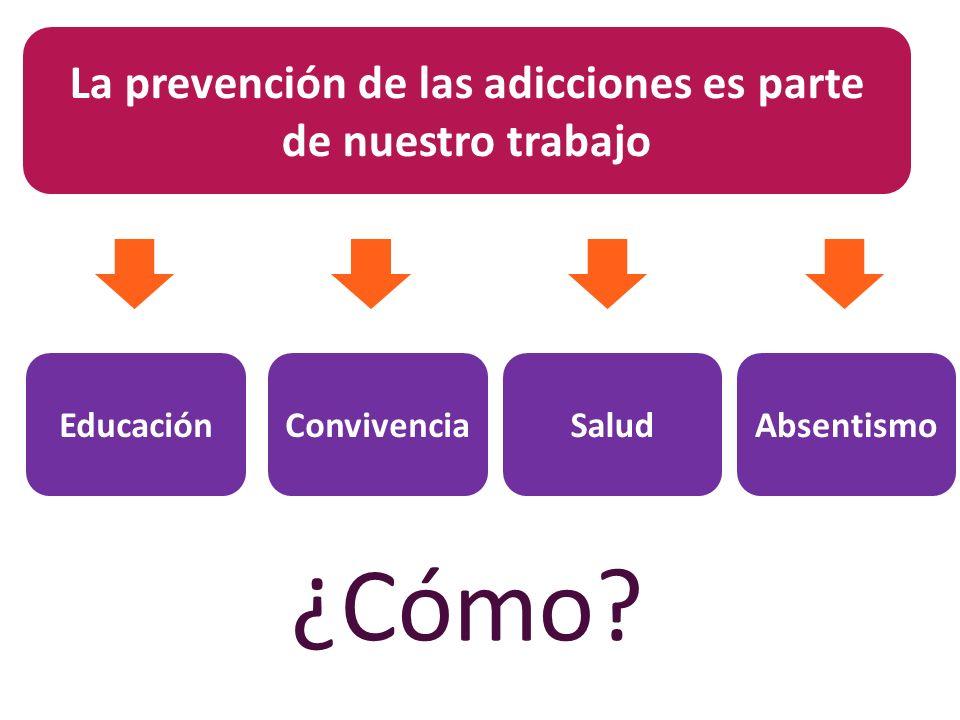 La prevención de las adicciones es parte de nuestro trabajo