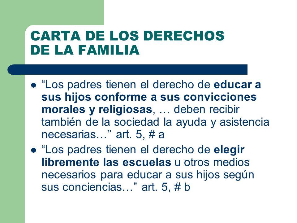 CARTA DE LOS DERECHOS DE LA FAMILIA