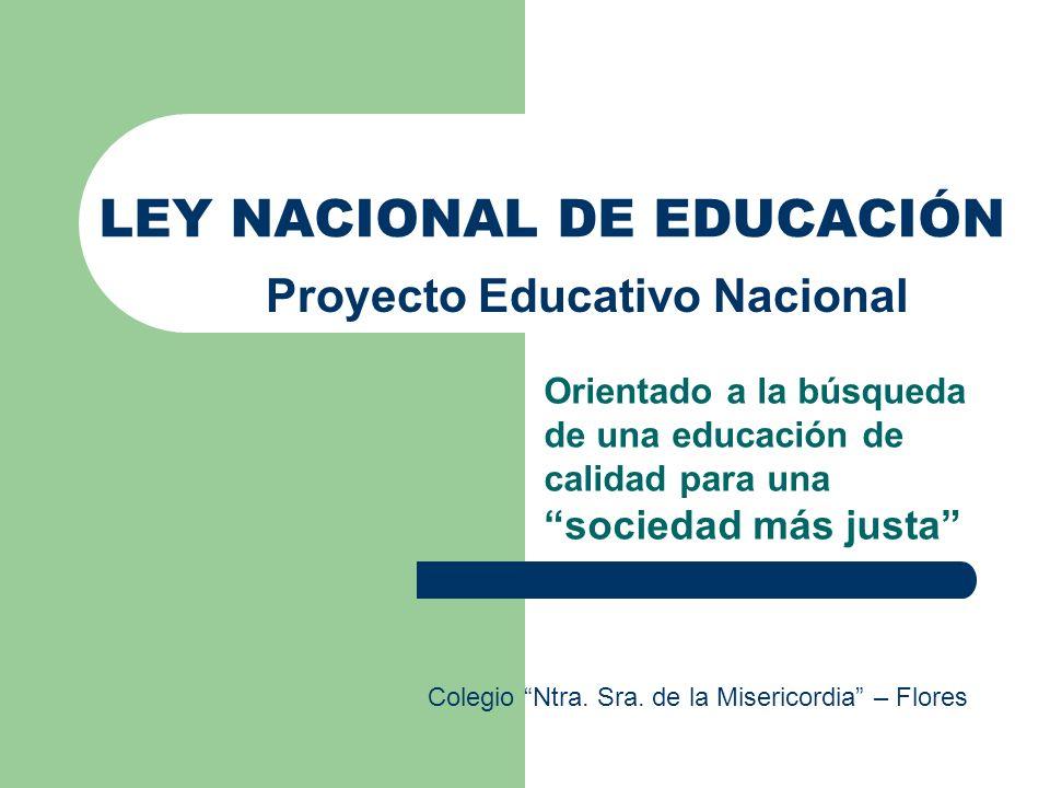 LEY NACIONAL DE EDUCACIÓN
