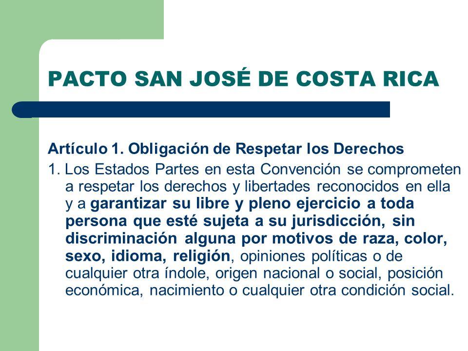 PACTO SAN JOSÉ DE COSTA RICA