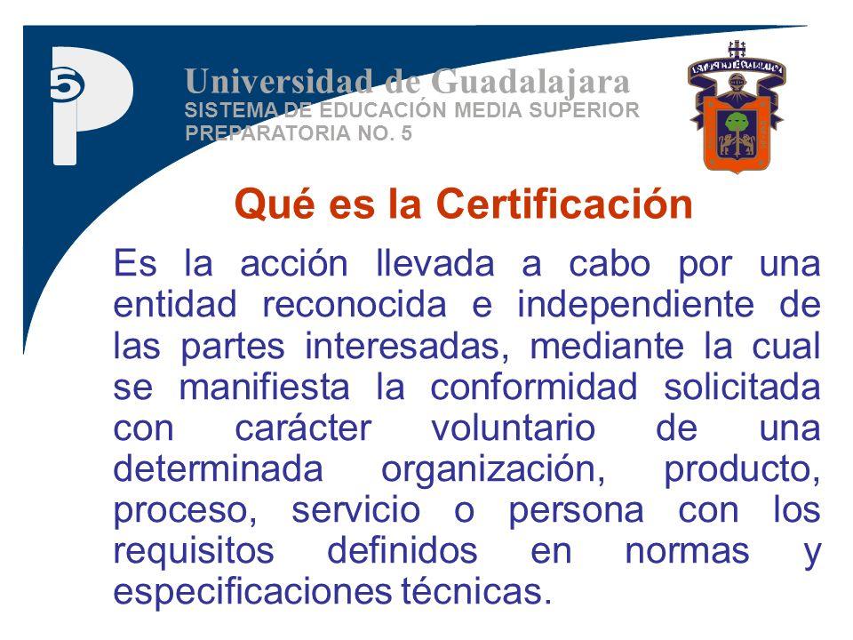 Qué es la Certificación