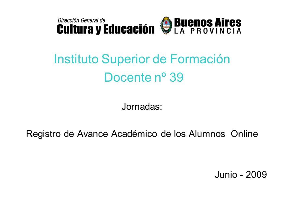 Instituto Superior de Formación Docente nº 39
