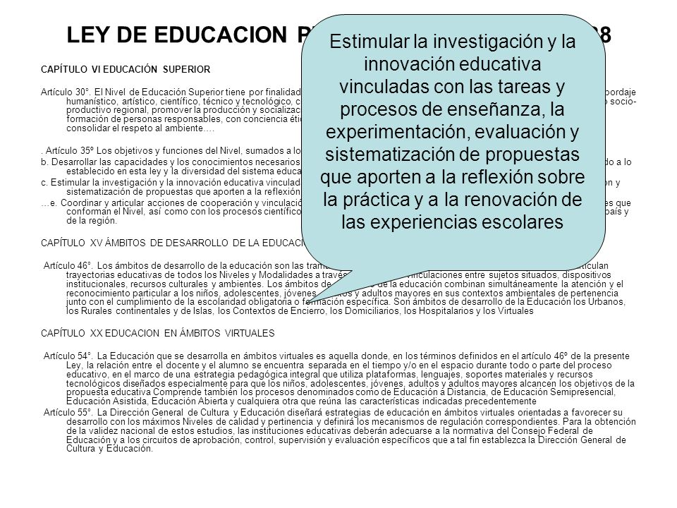 LEY DE EDUCACION PROVINCIAL – LEY Nº 13.688