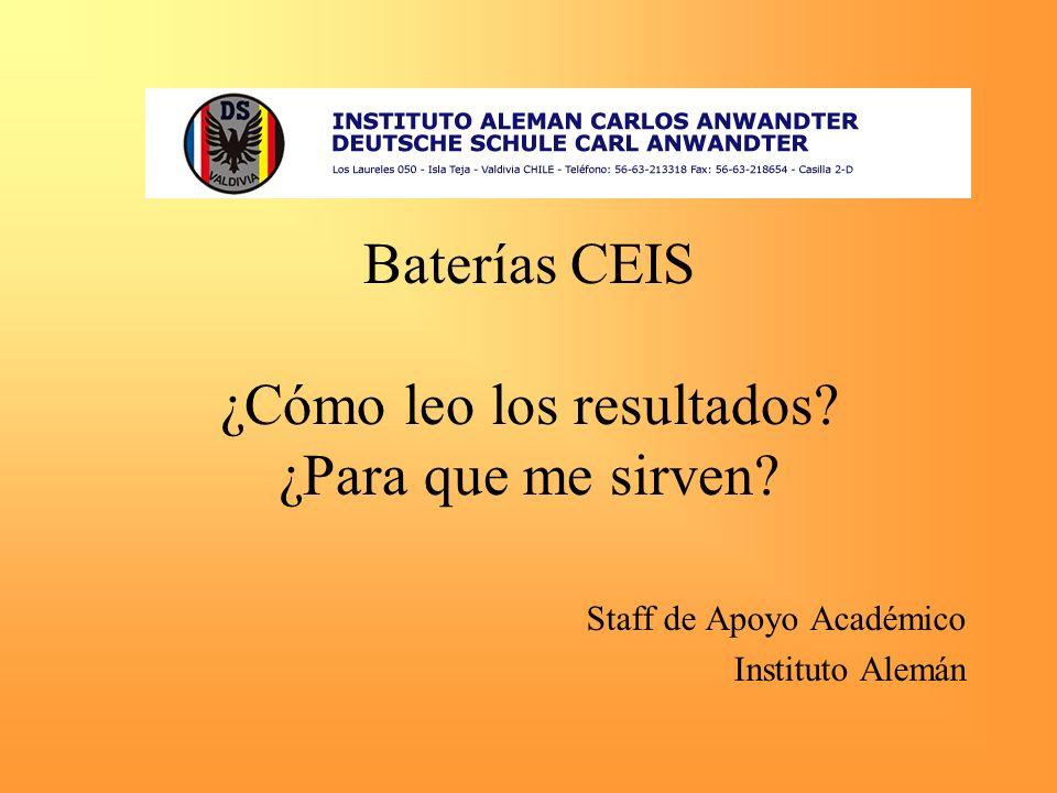 Baterías CEIS ¿Cómo leo los resultados ¿Para que me sirven