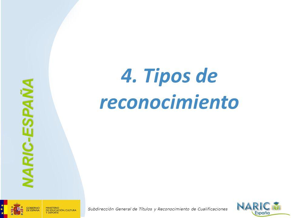 4. Tipos de reconocimiento