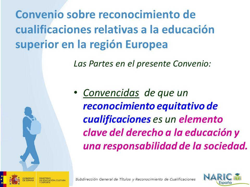 Convenio sobre reconocimiento de cualificaciones relativas a la educación superior en la región Europea