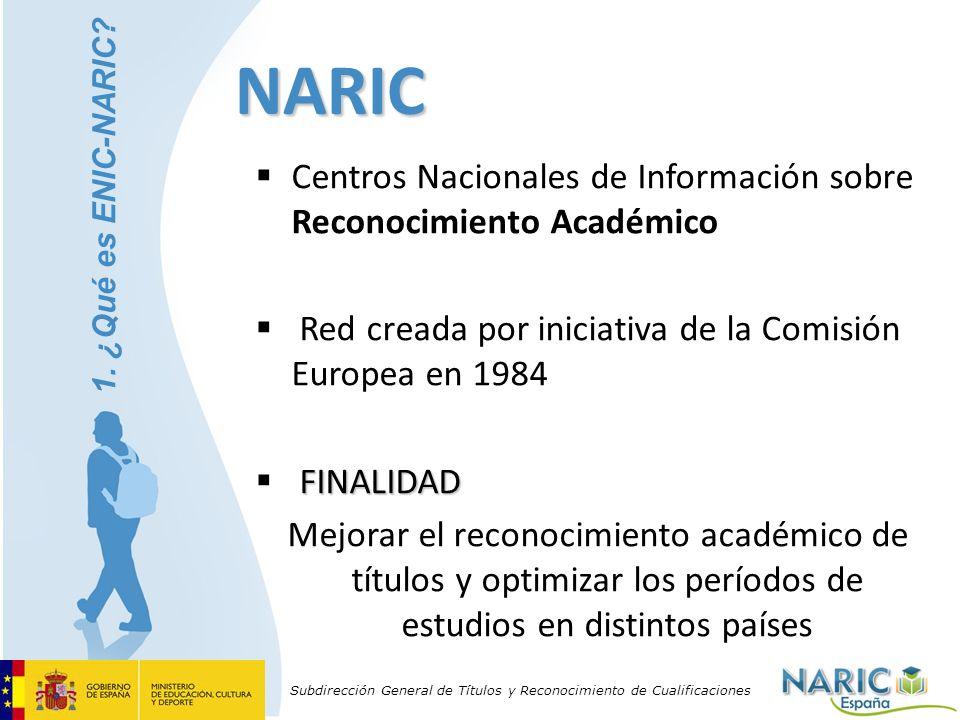 NARIC Centros Nacionales de Información sobre Reconocimiento Académico