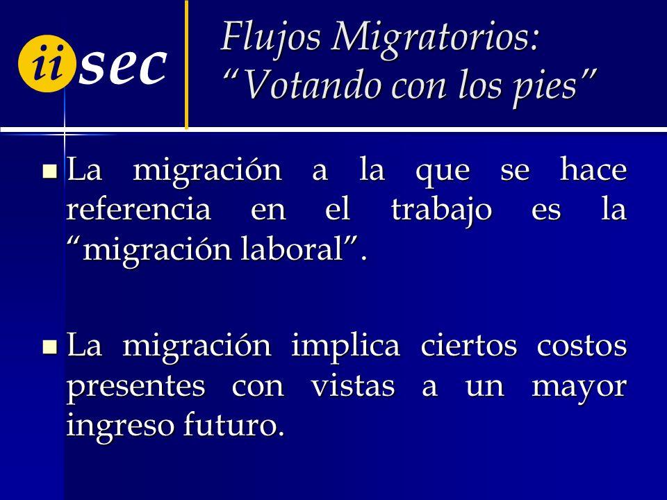 sec ii Flujos Migratorios: Votando con los pies