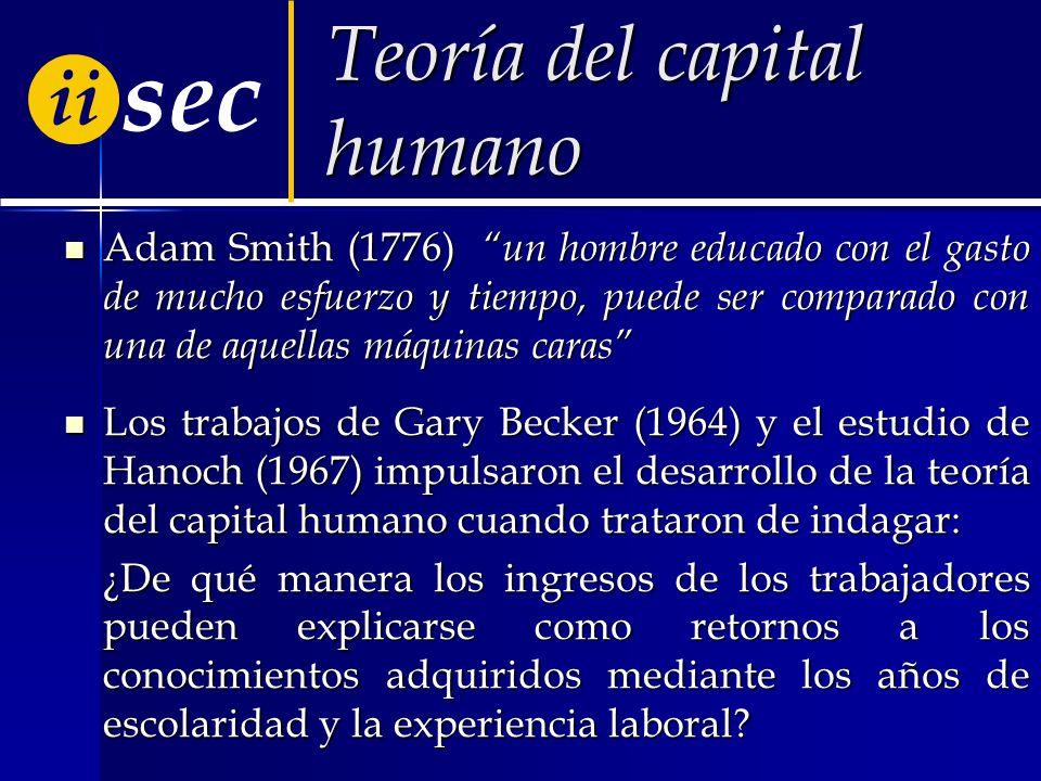 Teoría del capital humano