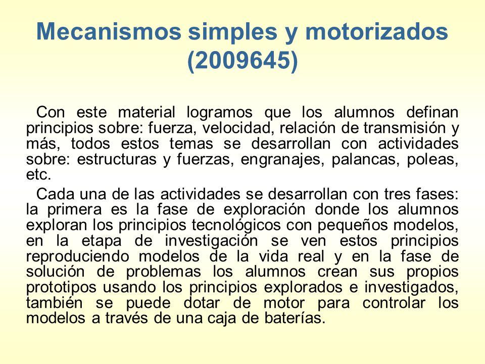 Mecanismos simples y motorizados (2009645)