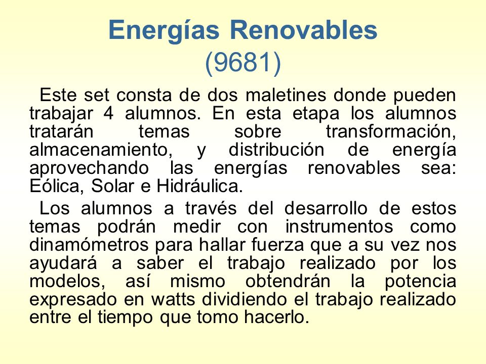 Energías Renovables (9681)