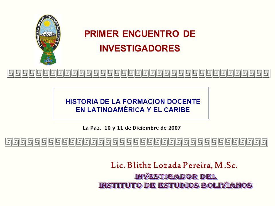 PRIMER ENCUENTRO DE INVESTIGADORES