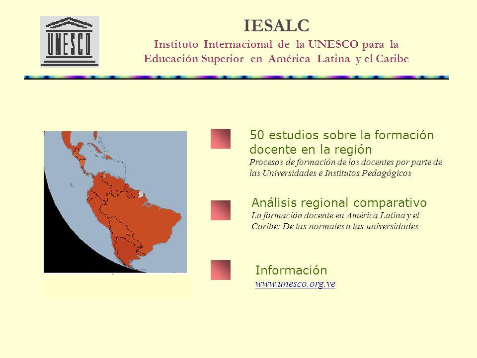 IESALC Instituto Internacional de la UNESCO para la Educación Superior en América Latina y el Caribe
