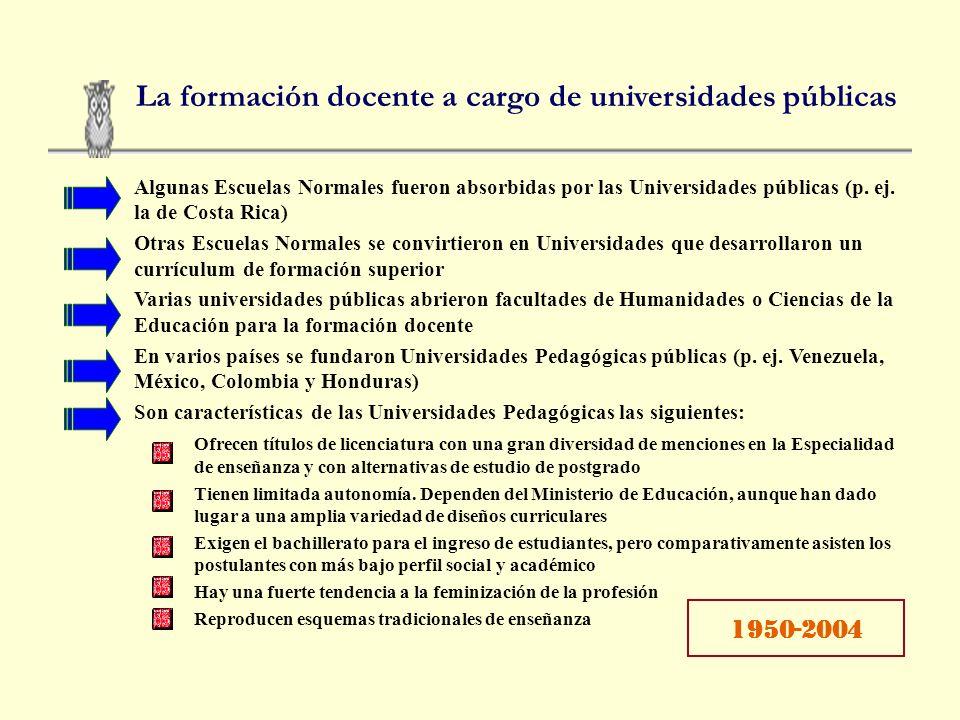 La formación docente a cargo de universidades públicas