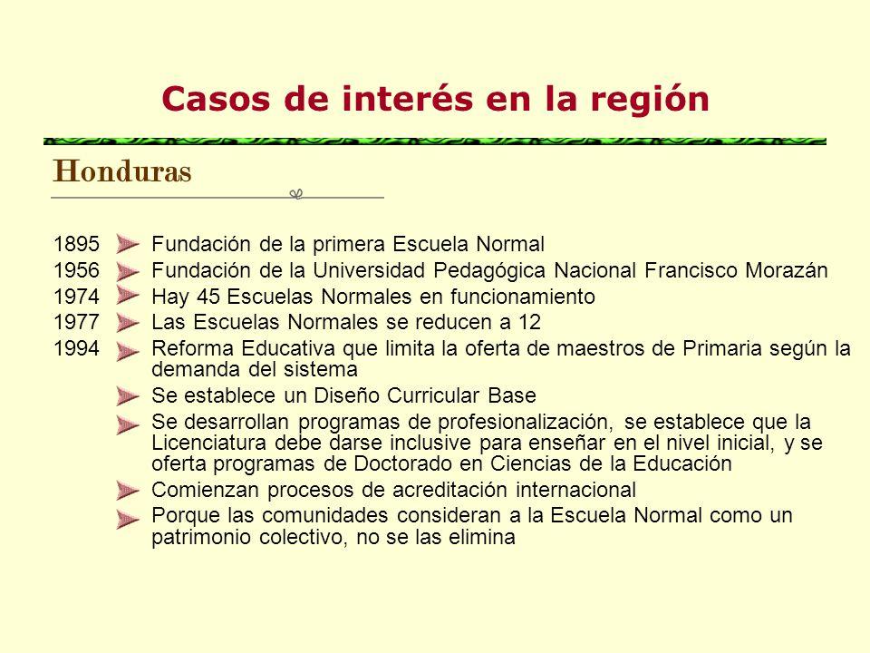 Casos de interés en la región