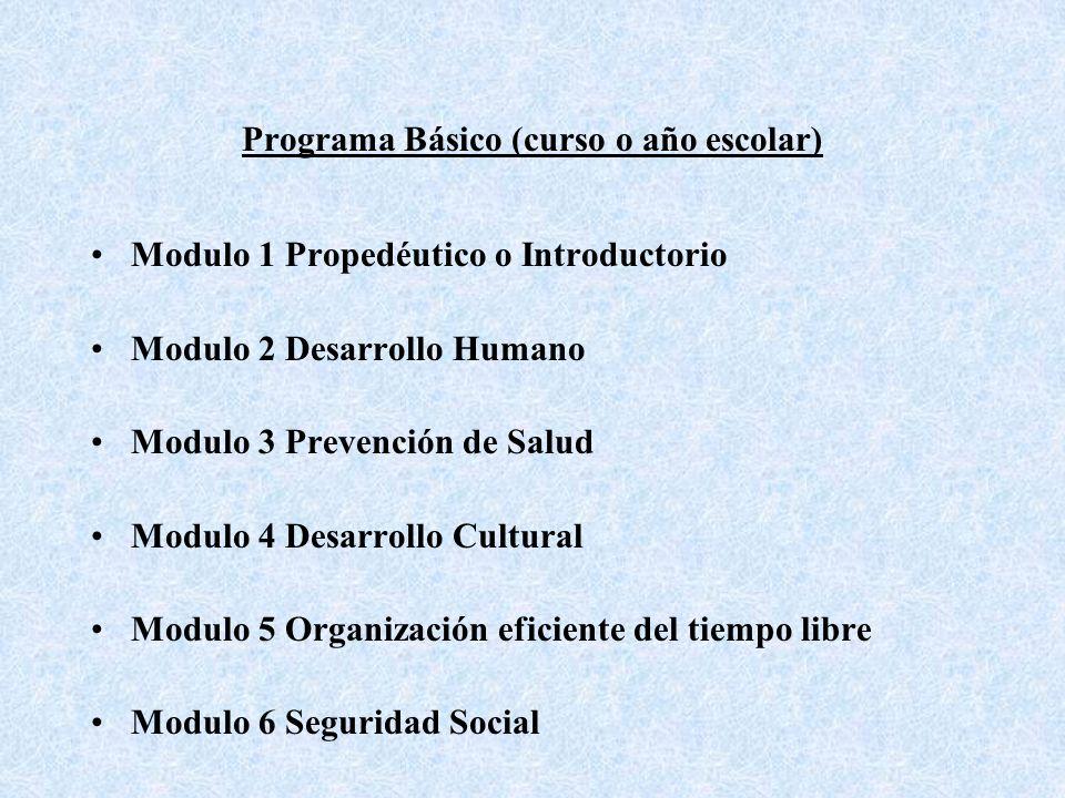 Programa Básico (curso o año escolar)