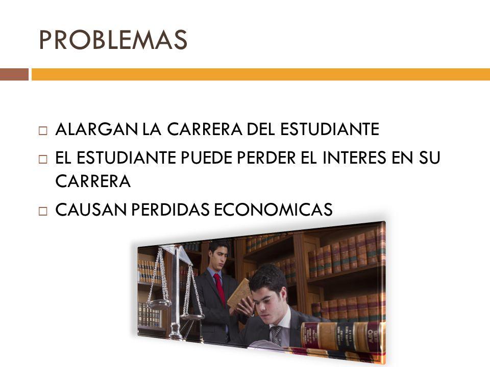 PROBLEMAS ALARGAN LA CARRERA DEL ESTUDIANTE