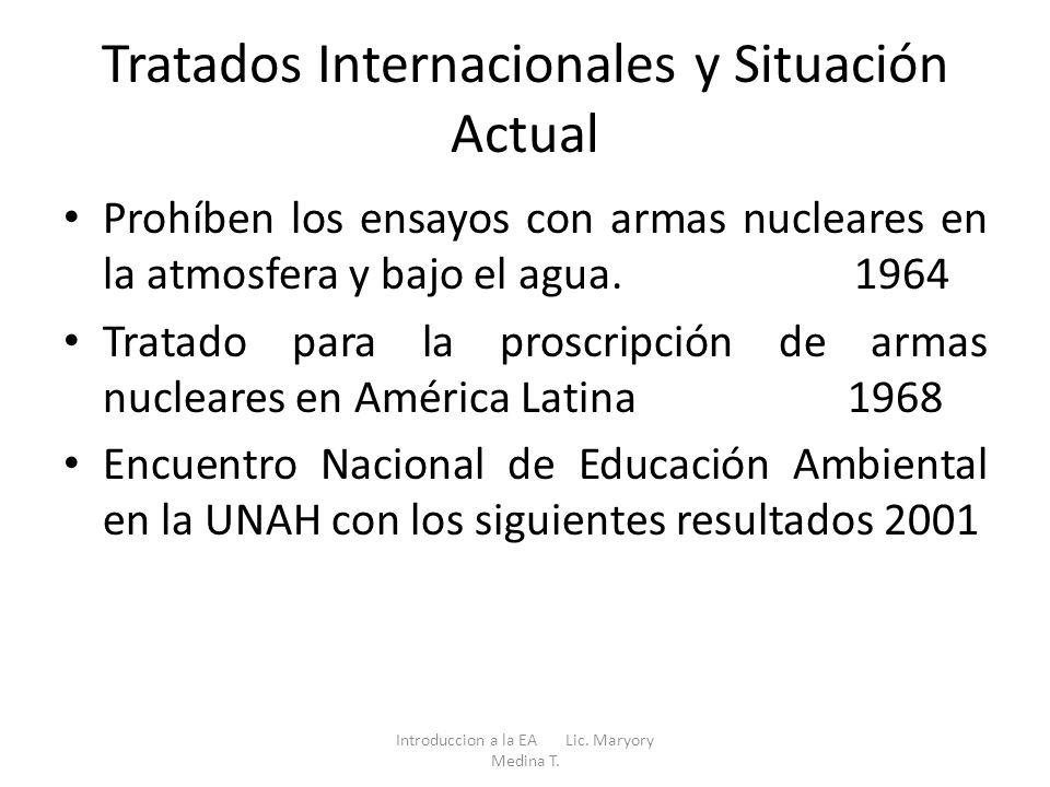 Tratados Internacionales y Situación Actual