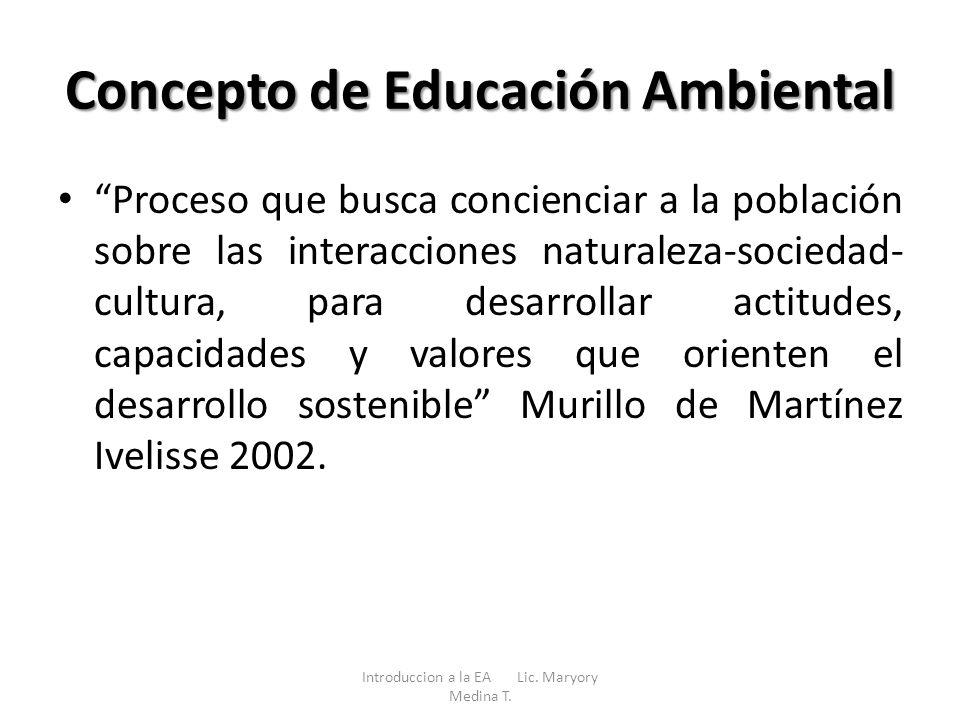 Concepto de Educación Ambiental