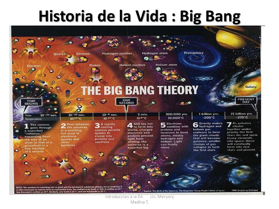 Historia de la Vida : Big Bang