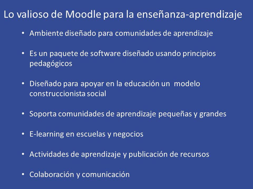 Lo valioso de Moodle para la enseñanza-aprendizaje
