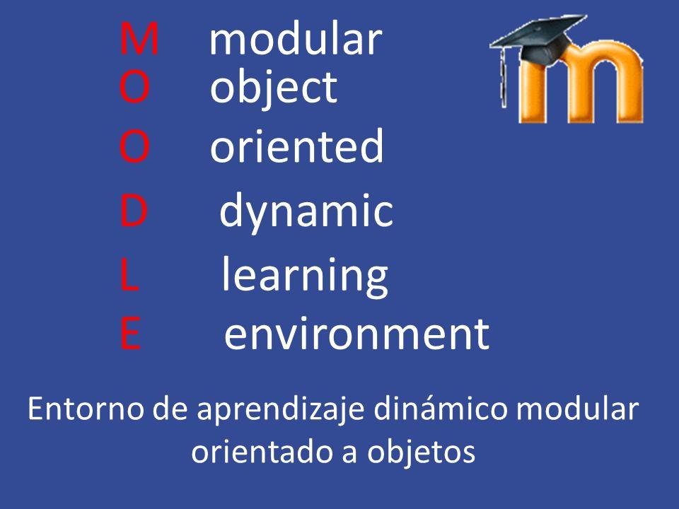 Entorno de aprendizaje dinámico modular orientado a objetos